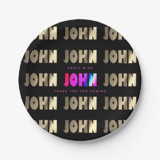 Assiettes En Papier John élégant et futé