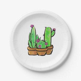 Assiettes En Papier Joie de cactus