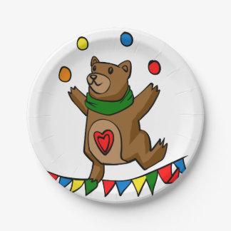 Assiettes En Papier Jonglerie d'ours