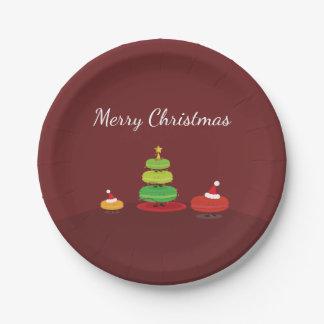 Assiettes En Papier Joyeuse plaque à papier de Macarons | de Noël