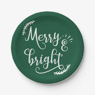 Assiettes En Papier joyeuses et lumineuses vacances de Noël