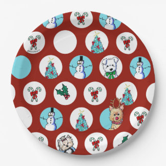 Assiettes En Papier KiniArt poursuit Noël de bonhomme de neige