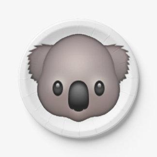Assiettes En Papier Koala - Emoji