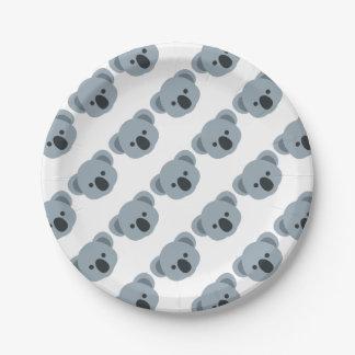 Assiettes En Papier Koala emoji