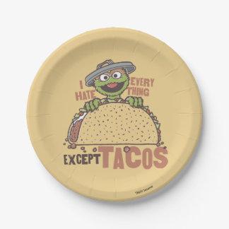 Assiettes En Papier La haine d'OscarI tout exceptent des tacos