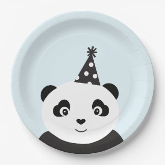 Assiettes En Papier La partie aiment un panda