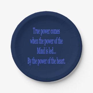 Assiettes En Papier La puissance vraie vient quand…