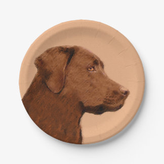 Assiettes En Papier Labrador retriever (chocolat)