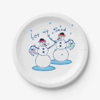 Assiettes En Papier Laissez lui neiger Snowladies