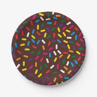 Assiettes En Papier Le chocolat givré arrose les plaques à papier