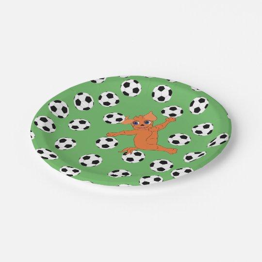 Assiettes En Papier Le football par Happy Juul Company
