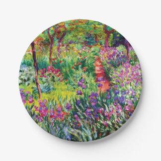 Assiettes En Papier Le jardin d'iris chez Giverny par Claude Monet