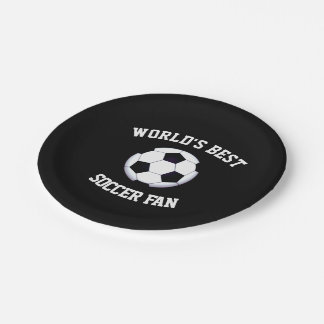Assiettes En Papier Le meilleur fan de foot du monde plaque à papier