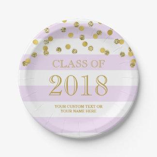 Assiettes En Papier Le pourpre barre l'obtention du diplôme 2018 de