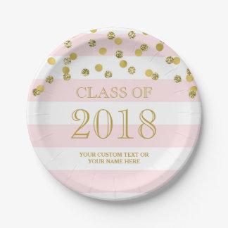 Assiettes En Papier Le rose barre l'obtention du diplôme 2018 de