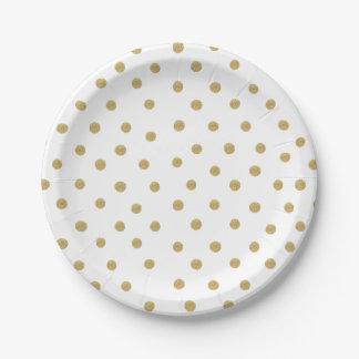 Assiettes En Papier Le scintillement d'or repère la plaque à papier