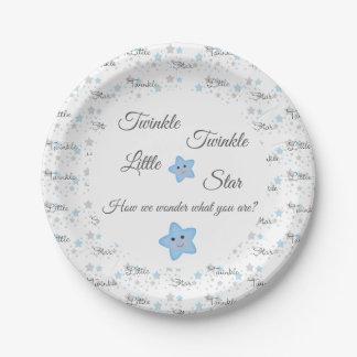 Assiettes En Papier Le scintillement peu de genre d'étoile indiquent