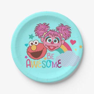 Assiettes En Papier Le Sesame Street | Elmo et Abby - soyez