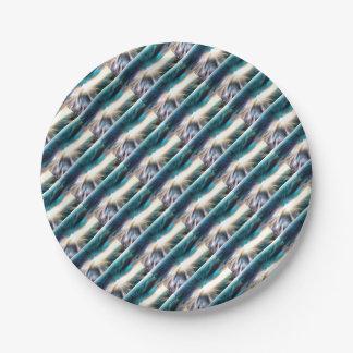 Assiettes En Papier L'eau abstraite - vitesse de la lumière