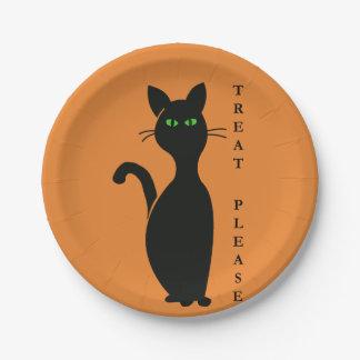 Assiettes En Papier Les festins satisfont le chat