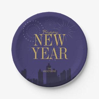 Assiettes En Papier Les plaques à papier de la bonne année moderne