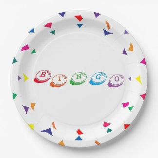 Assiettes En Papier Lettrage coloré de BINGO-TEST