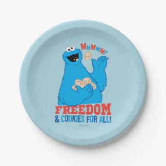 Assiettes En Papier Liberté et biscuits pour tous !