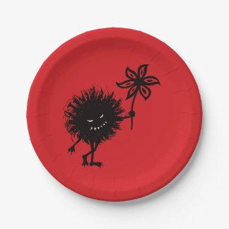 Assiettes En Papier L'insecte mauvais donne le cru de fleur gothique