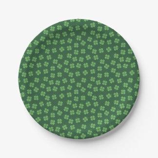 Assiettes En Papier L'Irlandais celtique vert quatre a poussé des