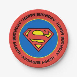 Assiettes En Papier Logo classique des bandes dessinées | Superman |