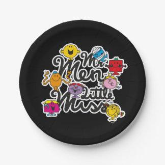 Assiettes En Papier Logo de groupe de M. Men Little Mlle  