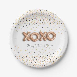 Assiettes En Papier L'or rose de XOXO monte en ballon la