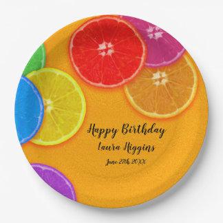 Assiettes En Papier L'orange d'amusement découpe la fête