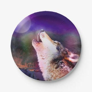 Assiettes En Papier Loup de Howlin - loup de lune - loup principal