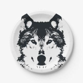 Assiettes En Papier Loup noir d'illustration