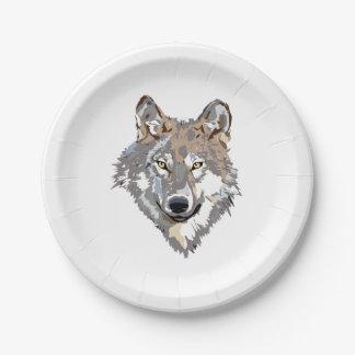 Assiettes En Papier Loup principal - illustration de loup - loup