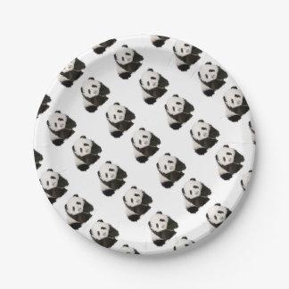 Assiettes En Papier Low Poly Panda