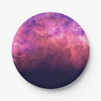 Assiettes En Papier Lueur cosmique du feu de ciel de galaxie de ciel