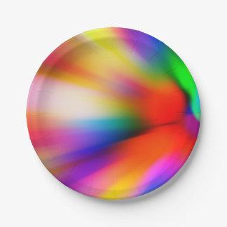 Assiettes En Papier Lumières multi brouillées de couleur