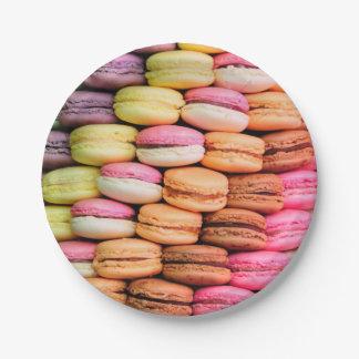 Assiettes En Papier Macarons colorés