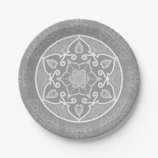Assiettes En Papier Mandala en pierre