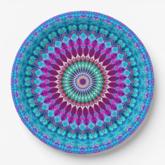 Assiettes En Papier Mandala géométrique G382 de plaque à papier