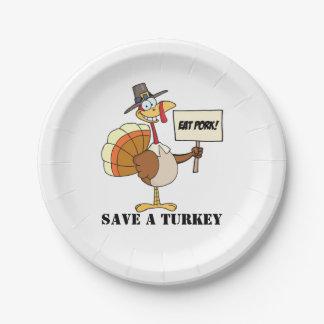 Assiettes En Papier Mangez les économies de porc la Turquie