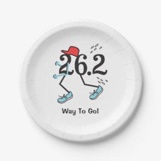 Assiettes En Papier Manière drôle de 26,2 Marathoner d'aller