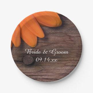 Assiettes En Papier Mariage campagnard rustique en bois de grange de