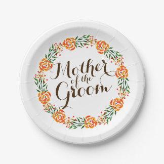 Assiettes En Papier Mère de la plaque à papier de mariage élégant de
