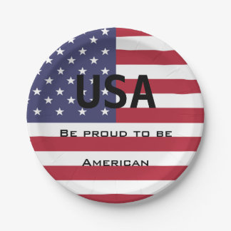 Assiettes En Papier Modèle de drapeau américain