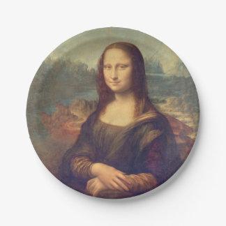 Assiettes En Papier Mona Lisa par Leonardo da Vinci