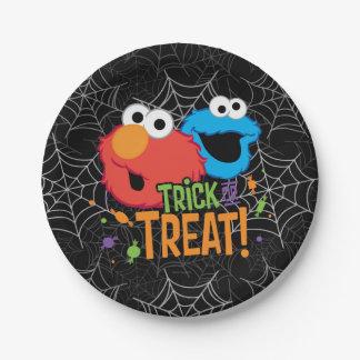Assiettes En Papier Monstre de biscuit et Elmo - des bonbons ou un