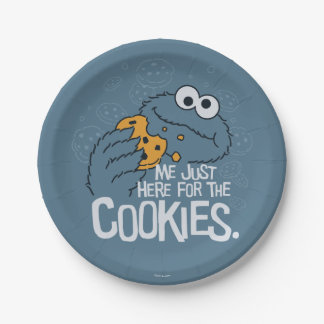 Assiettes En Papier Monstre de biscuit | je juste ici pour les